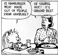 Calvin et les hamburgers